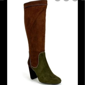 NEW Suede Patchwork Boots